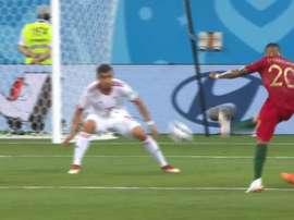 Quaresma a ouvert le score face à l'Iran. Capture