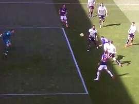 Neymar scored the first goal with a well executed goal. Screenshot/BeINsports