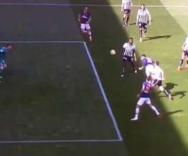 Neymar scored the first goal with a well executed goal. Screenshot/BeINsports