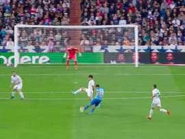 Chory scores Malaga's second. Twitter