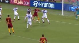 El argentino marcó el 2-0. ASRoma