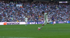 Bale made his mark in Zidane's first game back. Captura/BEINSports