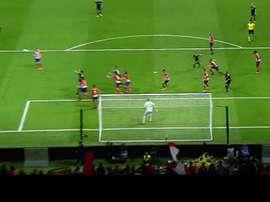 O momento do gol de Míchel, que gelou o Metropolitano. beINSports