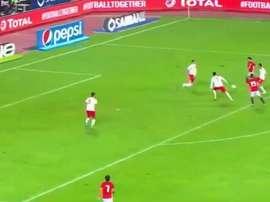 Gran goal di Salah. Captura