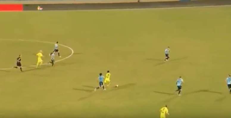 Ruleta, caño y mucha potencia se pueden ver en el jugadón individual. Youtube - Fútboldomi