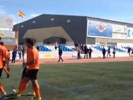 Buen detalle antes del partido. Guadalajara