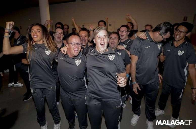 Los campeones del Málaga. Twitter/MalagaCF