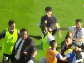 Anthony Lopes foi alvo da fúria dos torcedores do Bastia. Youtube/beINSports