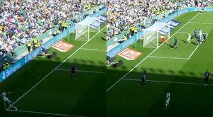Joaquín quase faz um gol olímpico. Capturas/Movistar