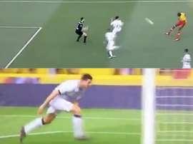 Pudo marcar el Benevento, lo hizo el Atalanta. Captura