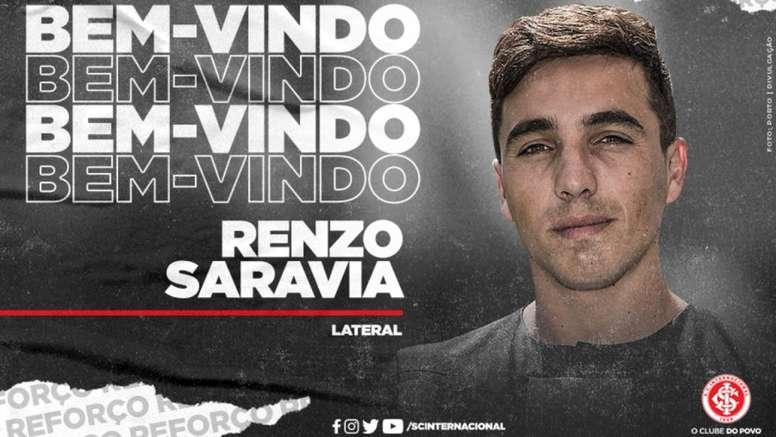 Internacional consigue la cesión de Saravia. SCInternacional
