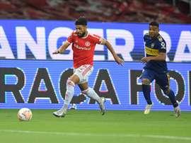 Internacional e Boca Junior se enfrentaram pelas oitavas da  Libertadores 2020. Twitter Internaciona