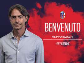 Inzaghi is Bologna's new manager. Twitter/BolognaFC1909en