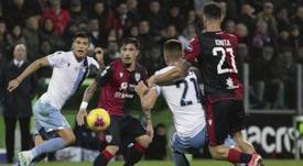 Luis Alberto y Caicedo abortan el 'Cholazo' en el añadido. CagliariCalcio