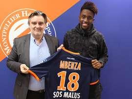 El Montpellier refuerza su delantera con una nueva adquisición. AFP