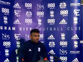 Vassell atendió a los medios en su presentación con el Birmingham City. BirminghamCity