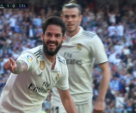 Isco scored the first goal of the game. Screenshot/BEINSports