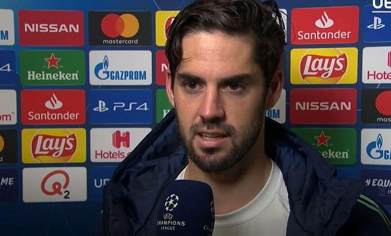 Isco se sintió importante de nuevo. Captura/UEFA