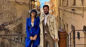 Isco y Sara, juntos en Cagliari. Instagram/SaraSalamo