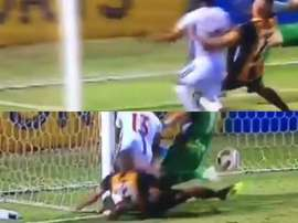 Isidro Saldivar se jugó el tipo en la acción. Twitter/CanchaChicaPY