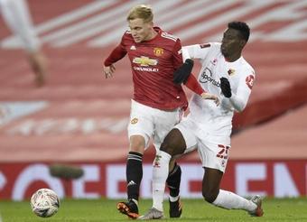 O United pensa em um futuro sem Martial e Van de Beek. AFP