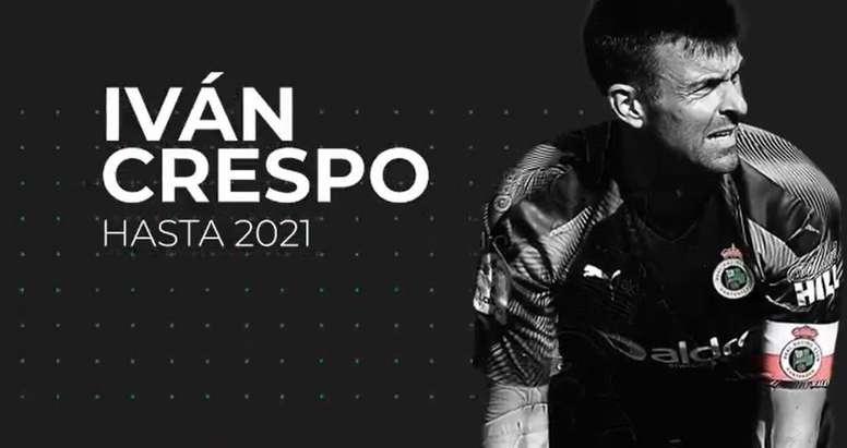 Iván Crespo renueva con el Racing hasta 2021. Captura/Racing