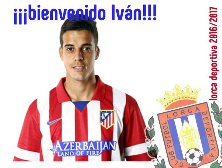 Iván Pérez, nuevo jugador del Lorca Deportiva. LorcaDeportiva