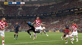 Perisic gave away a vital penalty in the match. Captura/BBC