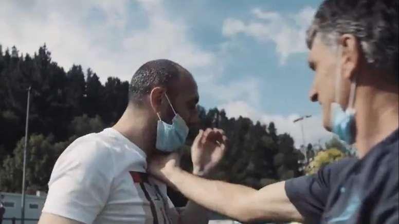 Ramis se despidió entre lágrimas del Eibar. Captura/SDEibar