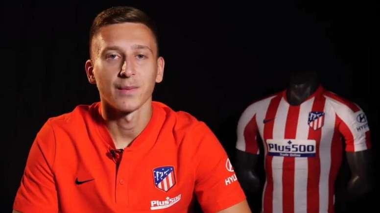 Saponjic se mostró muy feliz en su llegada al club. AtléticodeMadrid