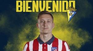 Saponjic jogará no Cádiz até o fim da temporada. Twitter/Cadiz_CF