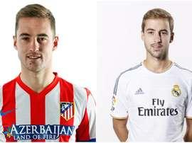 Izquierda, Pulido en el Atlético; derecha, en el Real Madrid. BeSoccer