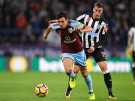 Jack Cork has earned his first England call-up. BurnleyFC