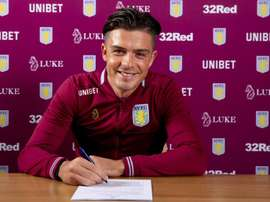Young Englishman Grealish recently penned a new 5-year deal with Aston Villa. Twitter/AVFC