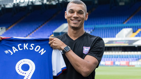 Jackson has signed a three-year deal at Portman Road. Twitter/Official_ITFC