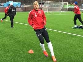 Jacobsson ha firmado por el Tromsø hasta 2018. Twitter