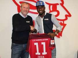 Jacques Zoua ya presume de nuevo equipo. Kaiserslautern