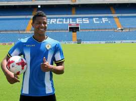 Alvarado llegó al Hércules este verano. Twitter/cfhercules