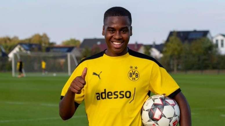 Bynoe-Gittens at his new club. Twitter/BVB
