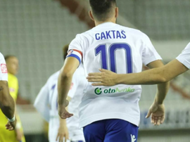 El Hajduk Split-Inter Zapresic, primer partido tras el parón. Twitter/hajduk