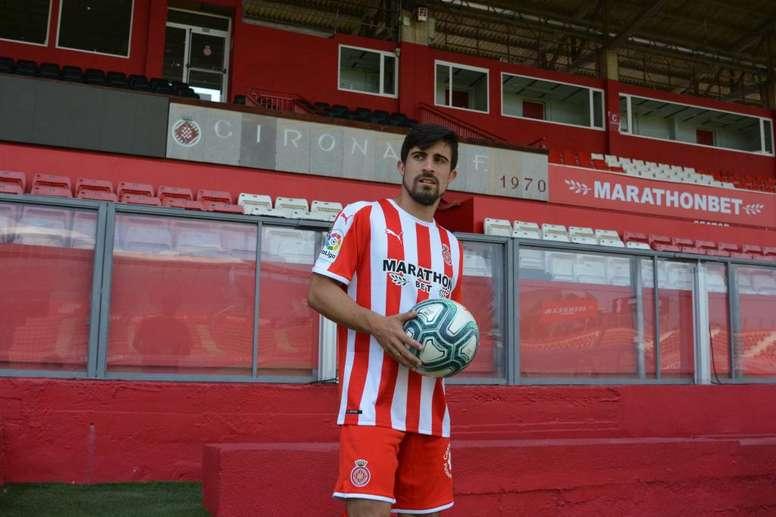 Jairo se lesionó anteel Cádiz. Twitter/GironaFC