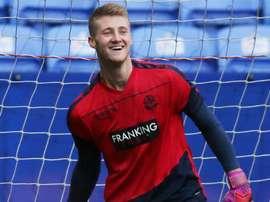 Jake Turner, en un entrenamiento con el Bolton. BWFC