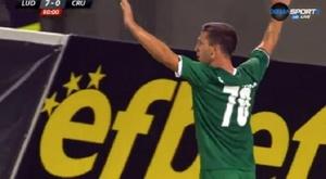 El Ludogorets goleó en su primer partido de la fase previa de la Champions. Captura/DiemaSports