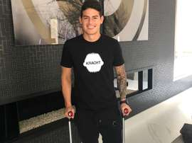 James, optimista pese a su lesión. JamesRodríguez