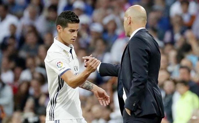 James pide cita con Zidane. RealMadrid