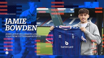 Jamie Bowden, cedido al Oldham Athletic. Twitter/OfficialOAFC