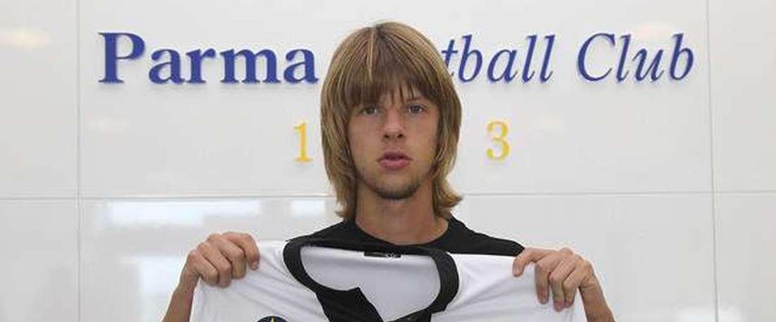Jankovic, en su etapa con el Parma. ParmaFC