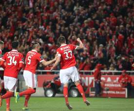 Jardel marcou o golo da 'tranquilidade'. Twitter/slbenfica