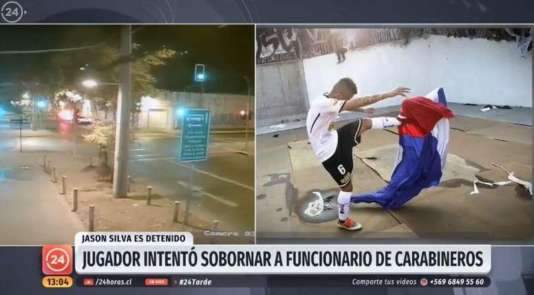 Un ex de Colo Colo, detenido por conducir borracho e intento de soborno. Twitter/24HorasTVN