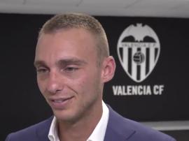 Les premiers mots du nouveau joueur 'che'. Twitter/ValenciaCF